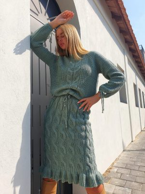 A knit suit murmured Helena